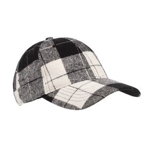 Time & Tru Tartan Plaid Baseball Cap Hat